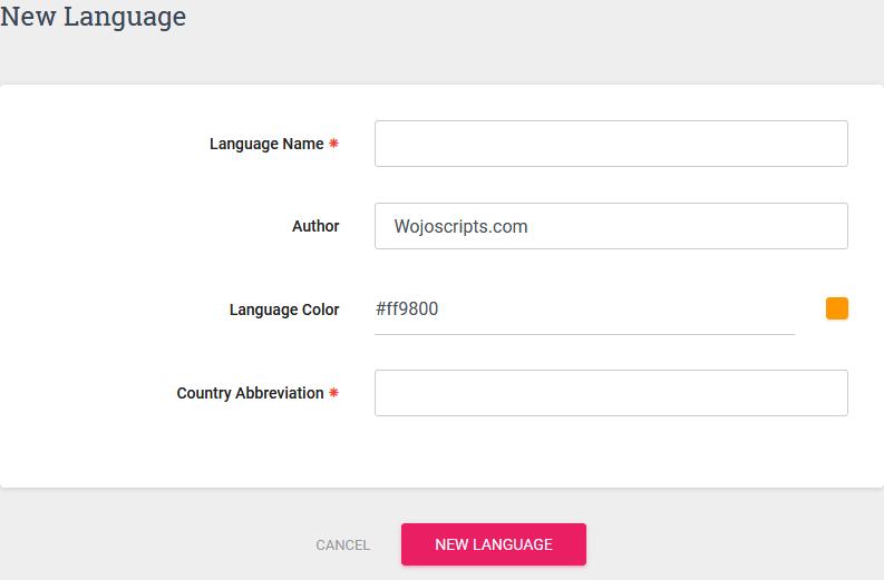 Language Folders